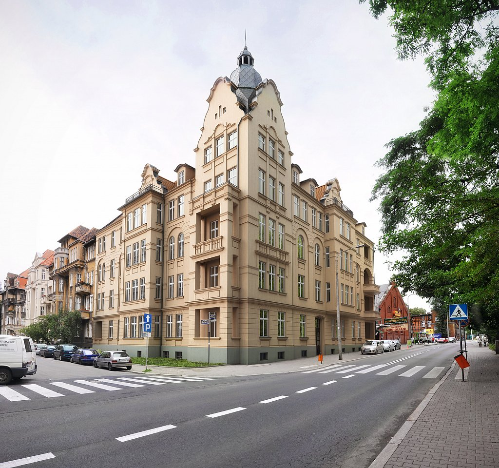Wizualizacja projektu renowacji kamienicy w Poznaniu