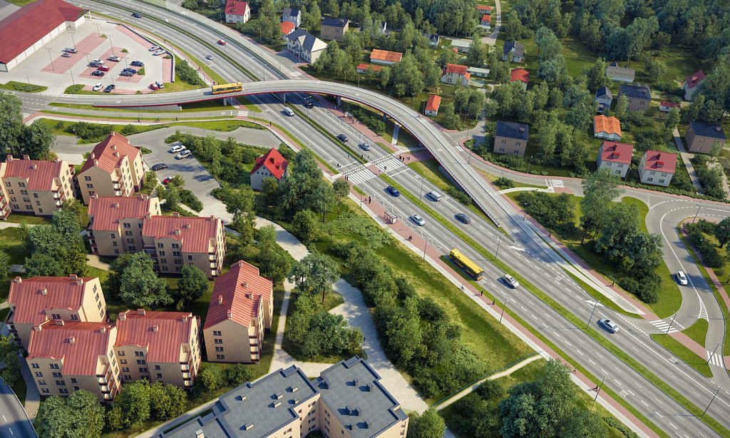 Wizualizacja wiaduktu w Kielcach